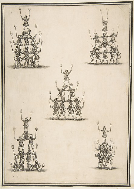Five Groups of Acrobats