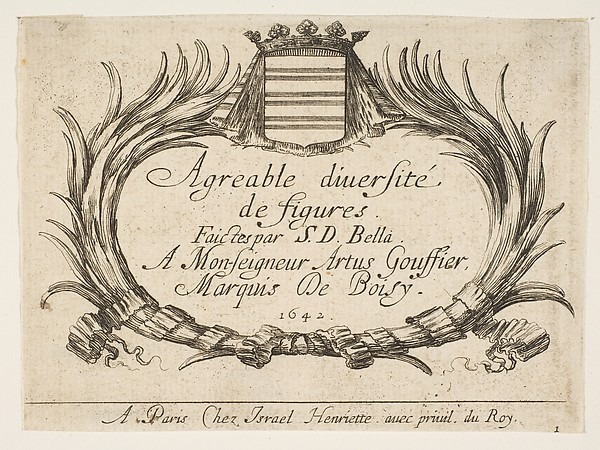 "Title Page for  ""Agreable diversite de figures"""