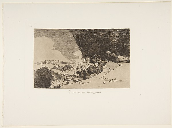 Plate 23 from 'The Disasters of War' (Los Desastres de la Guerra): 'The Same Elsewhere' (Lo mismo en otras partes)