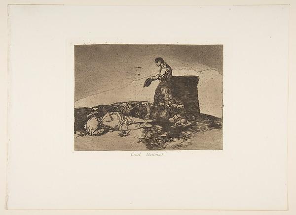Plate 48 from 'The Disasters of War' (Los Desastres de la Guerra): 'Cruel tale of woe!'(Cruel Lástima!)