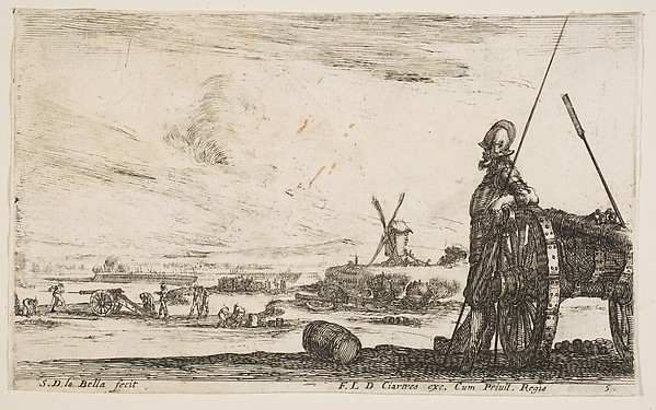 Pikeman Leaning on a Cannon