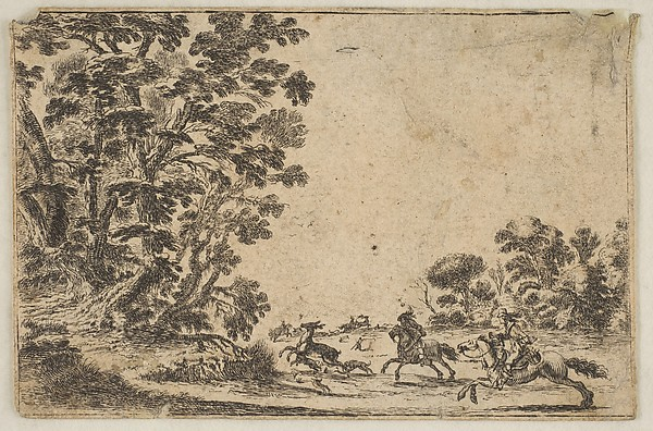 Stag Hunt in the Forest