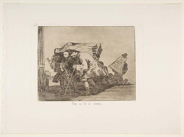 Plate 67  from 'The Disasters of War' (Los Desastres de la Guerra): 'This is not less so.' (Esta no lo es menos.)