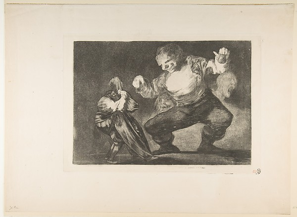 The Dancing Giant (Bobalicón), from the Disparates (Follies) or Los Proverbios, plate 4