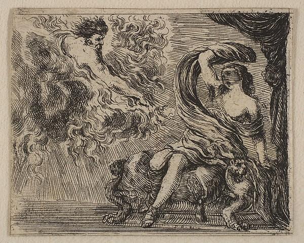 Jupiter And Semele Print Jupiter et Semele