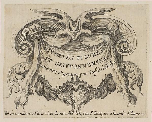 Frontispiece for Diverses Figures et Griffonnemens