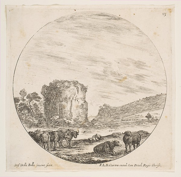 Ruins of a Temple in a Roman Landscape