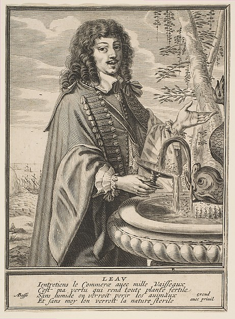 Fascinating Historical Picture of Abraham Bosse with Water in 1630