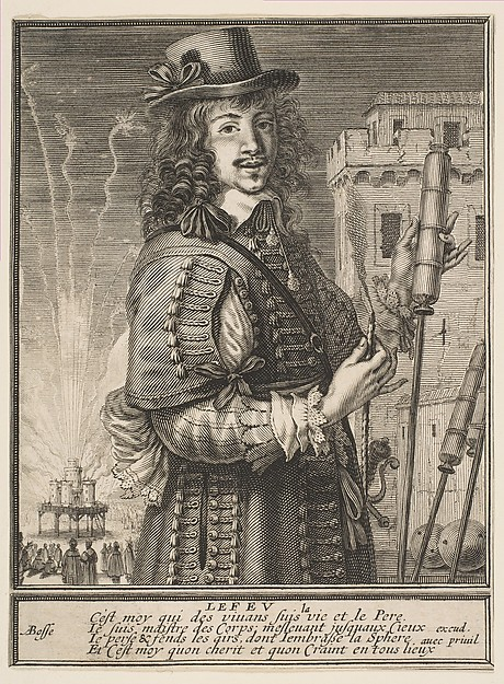 Fascinating Historical Picture of Abraham Bosse with Fire in 1630