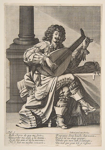 Man Singing and Playing a Lute