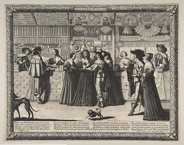 Fascinating Historical Picture of Abraham Bosse with The Gallery of the Palace of Justice in 1638