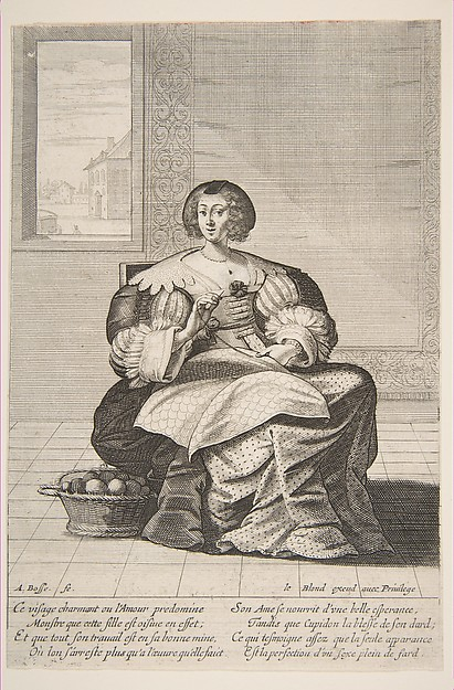 Fascinating Historical Picture of Abraham Bosse with Seated Woman Working on a Tapestry in 1620
