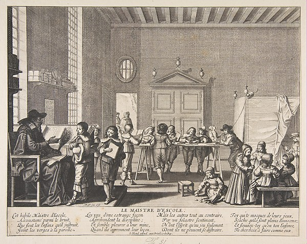 Fascinating Historical Picture of Abraham Bosse with The School Master in 1638