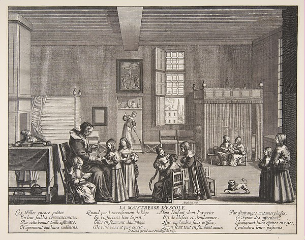 This is What Abraham Bosse and The School Mistress Looked Like  in 1638