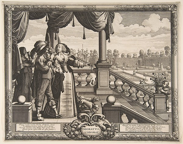 Fascinating Historical Picture of Abraham Bosse with Smell in 1638