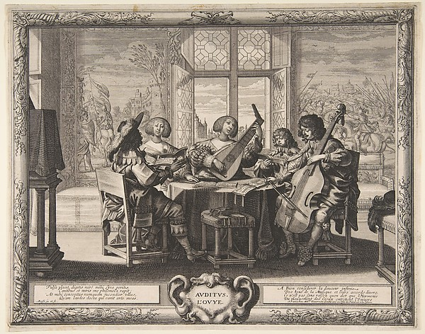 Fascinating Historical Picture of Abraham Bosse with Hearing in 1638