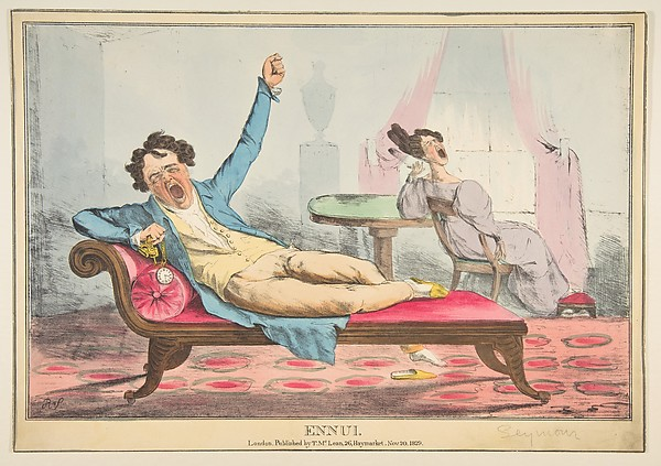 Fascinating Historical Picture of Robert Seymour with Ennui on 11/20/1829