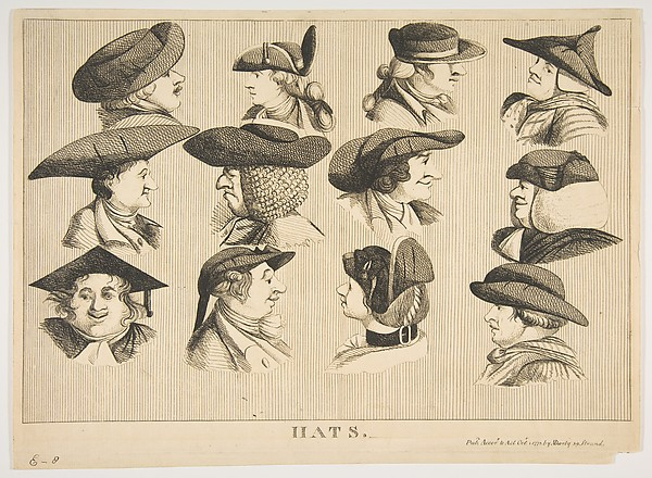 Fascinating Historical Picture of  with Hats on 10/1/1773