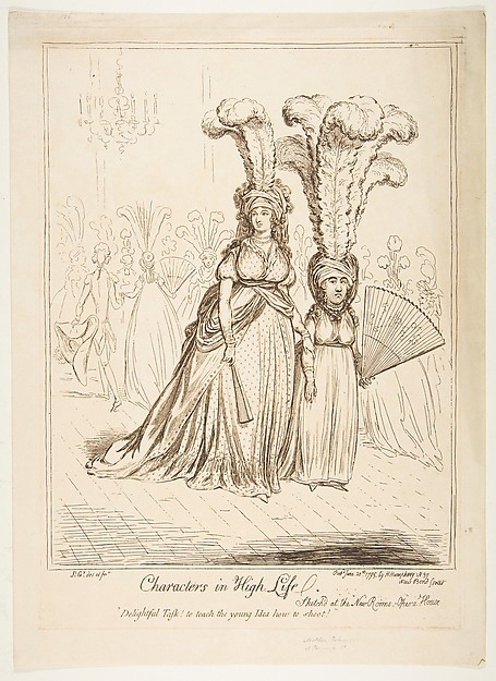 Fascinating Historical Picture of James Gillray with Characters in High Life on 6/20/1795