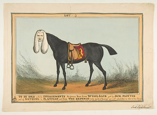 Fascinating Historical Picture of William Heath with To Be Sold With All His EngagementsThe Famous Race Horse Woolsack on 6/29/1829