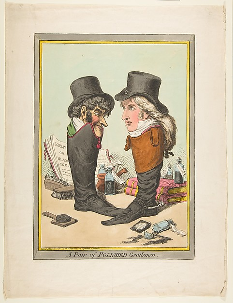 Fascinating Historical Picture of James Gillray with A Pair of Polished Gentlemen on 3/10/1801