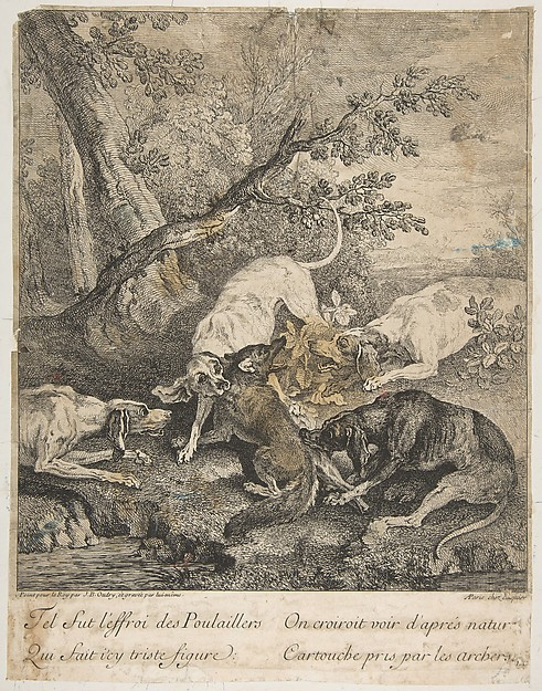 Fascinating Historical Picture of Jean-Baptiste Oudry with Fox Hunt in 1736