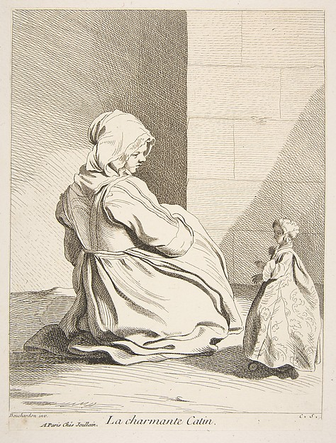 Fascinating Historical Picture of Anne Claude Philippe de Tubires comte de Caylus with The Charming Doll in 1742