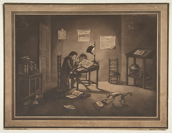 This is What Joshua Kirby Baldrey and Helluones librorum (Bookworms) Looked Like  on 11/10/1786