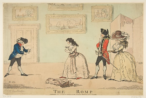 Fascinating Historical Picture of R. Rushworth with The Romp on 1/3/1786