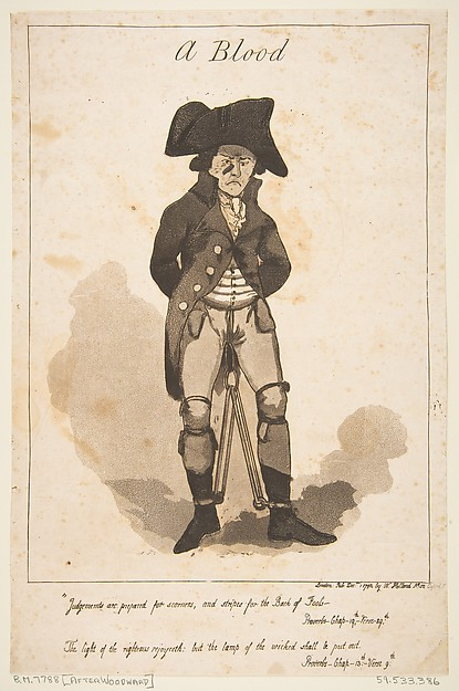 Fascinating Historical Picture of George Moutard Woodward with A Blood on 12/1/1790