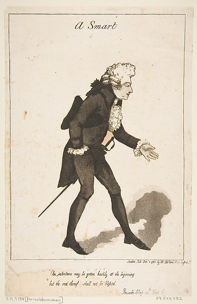 Fascinating Historical Picture of George Moutard Woodward with A Smart on 12/1/1790