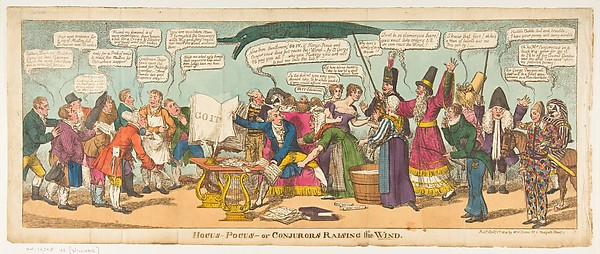 Fascinating Historical Picture of Charles Williams with Hocus Pocusor Conjurors Raising the Wind on 10/1/1814