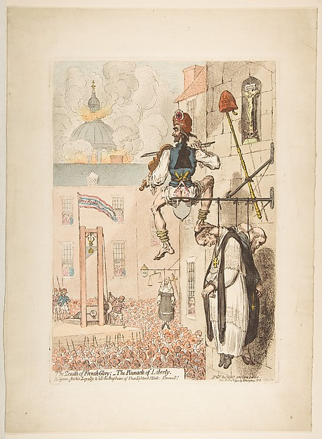 Fascinating Historical Picture of James Gillray with The Zenith of French Glory;  - the Pinnacle of Liberty on 2/12/1793