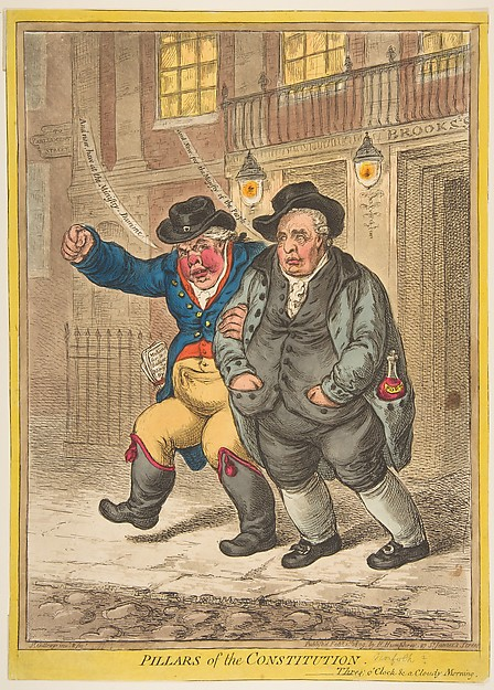 Fascinating Historical Picture of James Gillray with Pillars of the Constitution on 2/1/1809