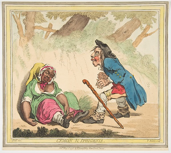 Fascinating Historical Picture of James Gillray with Cymon and Iphigenia on 5/2/1796