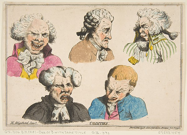 This is What Henry Wigstead and Oddities Looked Like  on 1/15/1792