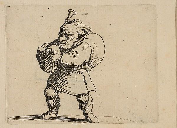 La Jouer de Cornemuse (The Bagpipe Player),  from Varie Figure Gobbi, suite appelée aussi Les Bossus, Les Pygmées, Les Nains Grotesques (Various Hunchbacked Figures, The Hunchbacks, The Pygmes, The Grotesque Dwarfs)