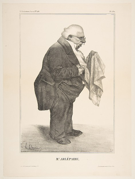 Fascinating Historical Picture of Honor Daumier with Harl Pre published in La Caricature no. 136 June 5 1833 on 6/5/1833