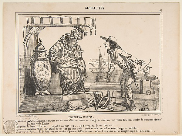 L'Expedition du Japon, Actualités No. 6, from Le Charivari