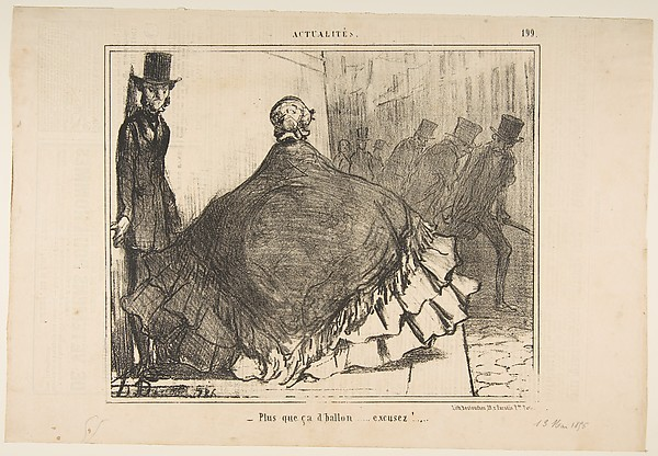 Fascinating Historical Picture of Honor Daumier with Plus que a dballon...excusez! from Actualits published in Le Charivari June 13 1855 on 6/13/1855