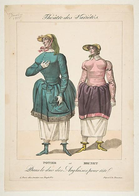 Potier et Brunet, Dans le duo des Anglaises pour Rire, from Théâtre des Variétés