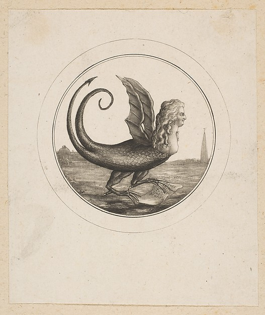 Caricature Showing Marie Antoinette as a Dragon
