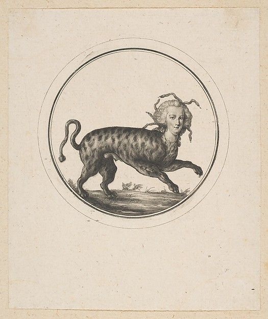 Caricature Showing Marie Antoinette as a Leopard