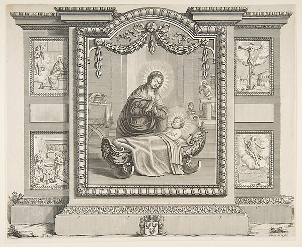 Fascinating Historical Picture of Abraham Bosse with The Nativity with Scenes of The Annunciation The Adoration of the Shepherds The Crucifixion and Th in 1620