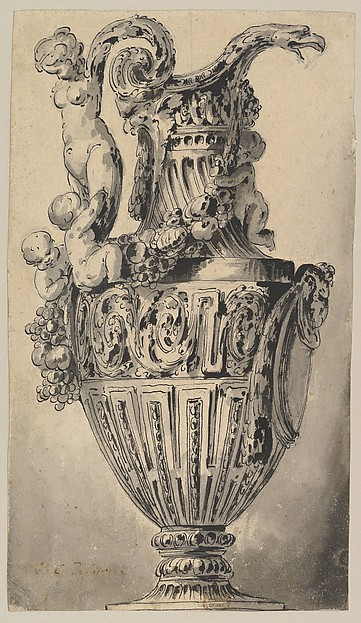This is What Jean Charles Delafosse and Design for a Ewer Looked Like  in 1734