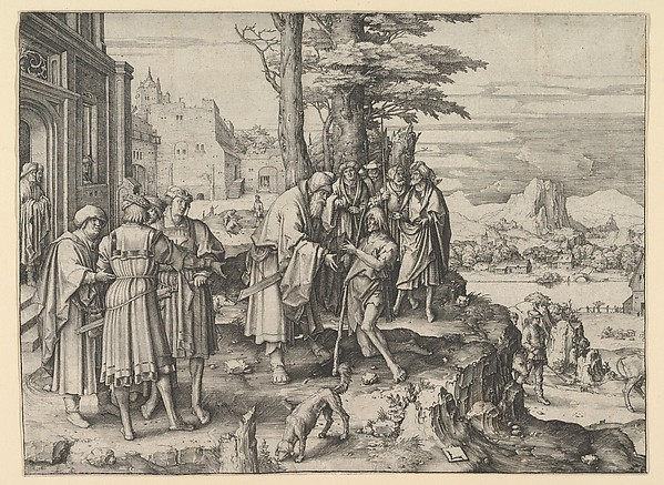 Fascinating Historical Picture of Lucas van Leyden with The Return of the Prodigal Son in 1510