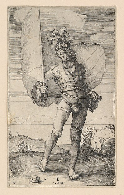 Fascinating Historical Picture of Lucas van Leyden with The Standard Bearer in 1510