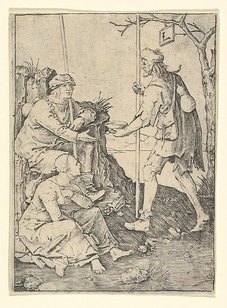 Fascinating Historical Picture of Lucas van Leyden with The Beggars in 1509