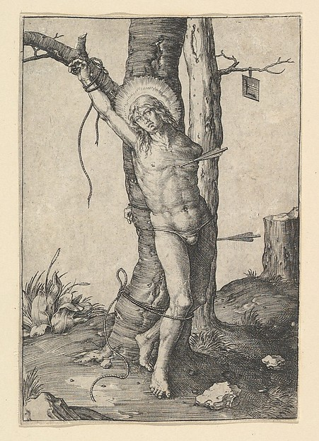 Fascinating Historical Picture of Lucas van Leyden with St. Sebastian in 1510