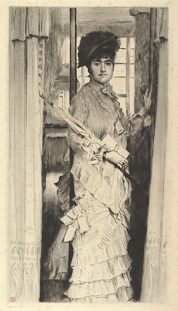 Portrait of Miss L...,or A Door Must Be Either Open or Closed